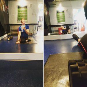 Stretch, löpbandsintervaller, uppmjukning av muskler