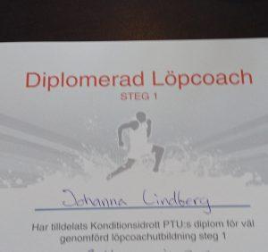 Diplomerad löpcoach, tränare, löpning