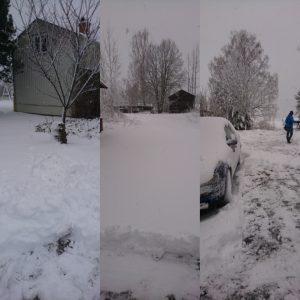 Snö, april, aprilväder