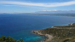 Cykeltur, berg, Kreta, Utsikt