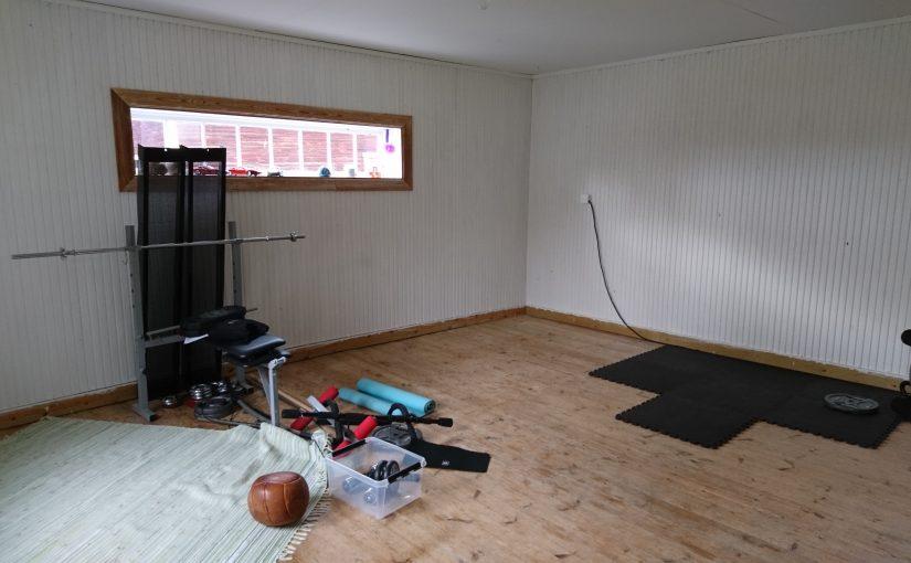 Lång helg och snart ett gym hemma :)