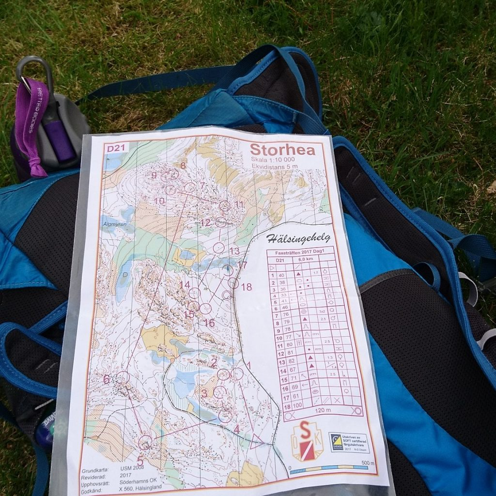 Orientering, Tävling, Karta